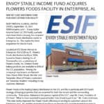 Envoy announces it's third acquisition, Flowers Foods, for its new Net Lease Fund.